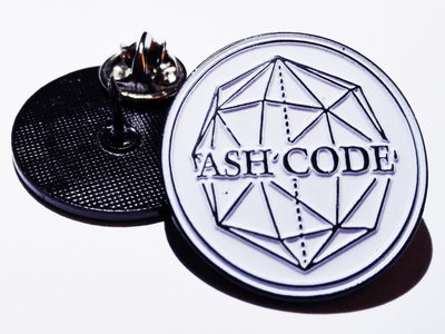 Ash Code 'Logo' White METAL Pin main photo
