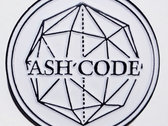 Ash Code 'Logo' White METAL Pin photo