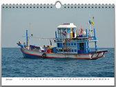Fischerboote auf Hoher See - 2017 - A3 Kalender photo