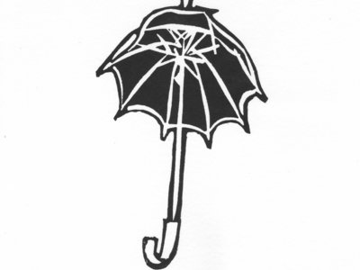 'Black Umbrella' Linocut (Signed and Numbered Limited Edition) main photo
