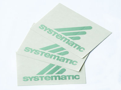 "3 ""Systematic"" logo sticker main photo"