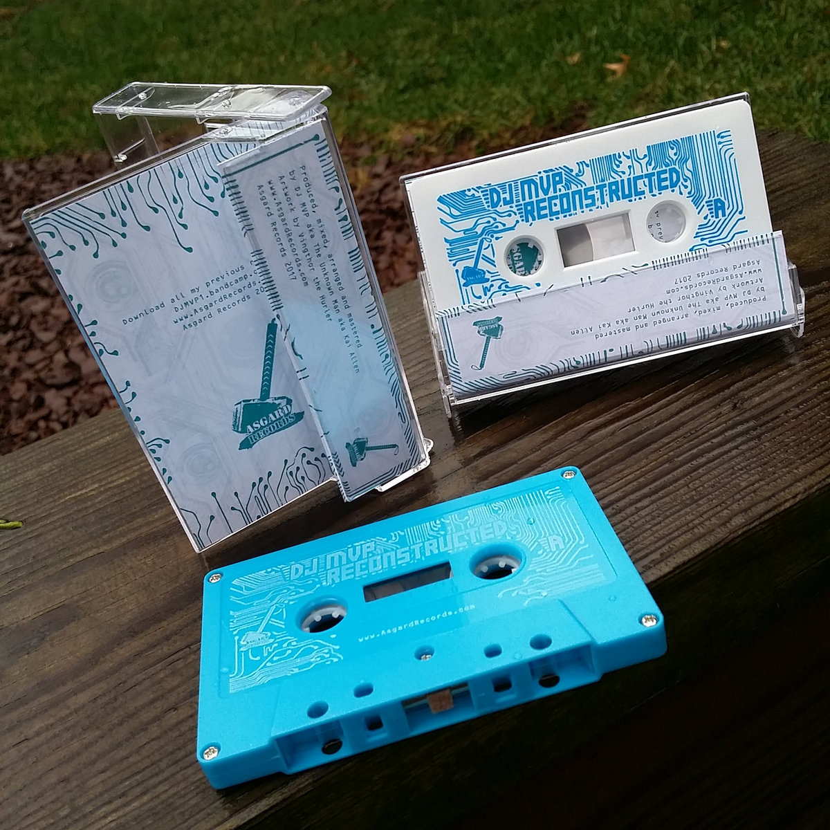 Dr octagon blue flowers asgard records color 3 panel j card printed both sides and clear norelco boxes cassette shells comes in 2 different colors 50 light blue shells with white imprint izmirmasajfo