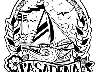 Pasadena Sailboat Sticker main photo