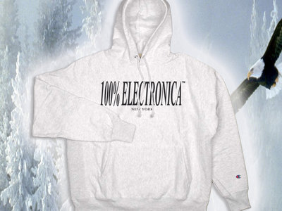 100% Electronica x Champion Hoodie (Silver Grey) main photo