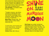 Shine On, Marquee Moon - Paperback *SIGNED and personalised* photo
