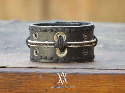 AA Leather Bracelet (#CLS168) w/ FREE Album Download main photo