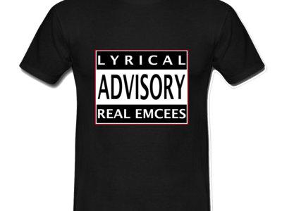 LYRICAL ADVISORY REAL EMCEE T-SHIRT main photo