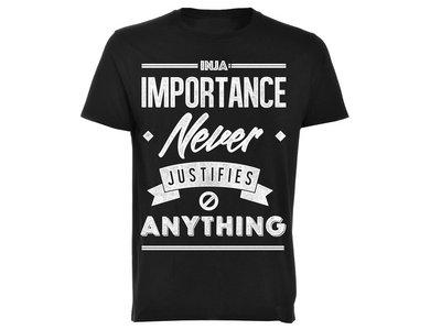 Importance Never Justifies Anything 'Mens T-shirt' main photo