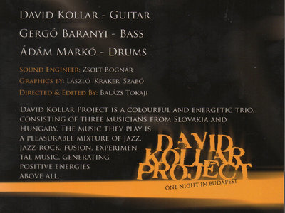 David Kollar Project - DVD One Night in Budapest 2009 main photo