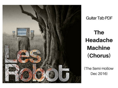 Headache Machine Chorus Riff - Guitar Notation PDF main photo