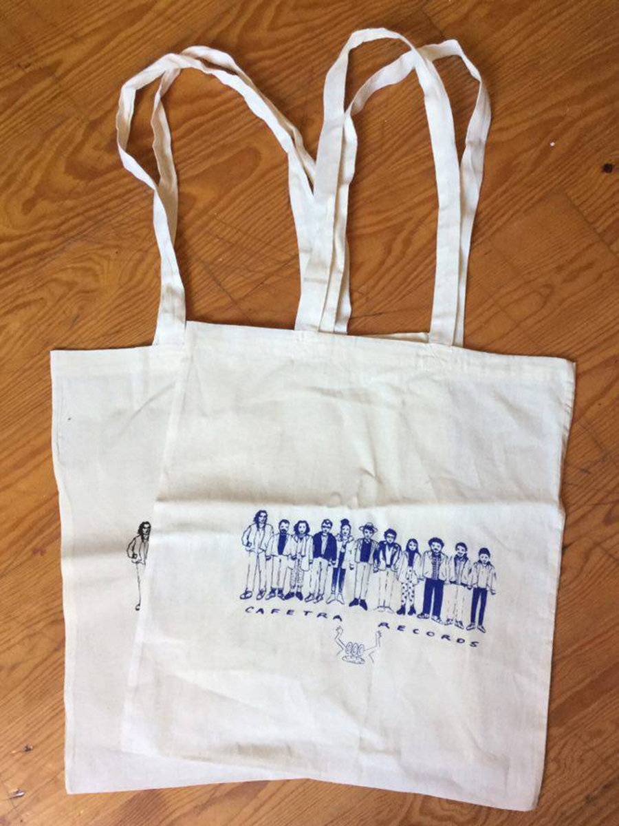 tote bag sacola c desenho em serigrafia silk screen printing