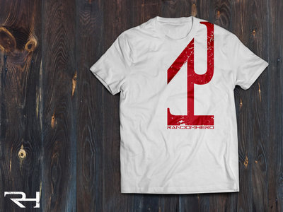 """Red on White Vertical Logo"" T-Shirt main photo"