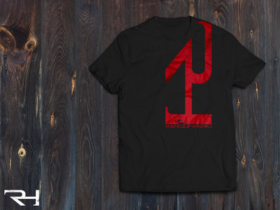 """Red on Black Vertical Logo"" T-Shirt main photo"