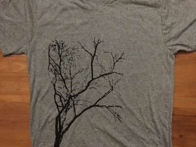 Limited Edition Flora T-Shirt (Gray V-Neck with Black Ink) main photo