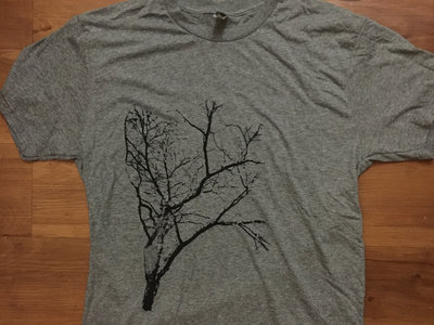 Limited Edition Flora T-Shirt (Gray Crew Neck with Black Ink) main photo