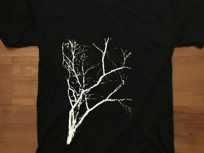 Limited Edition Flora T-Shirt (Black V-Neck with White Ink) main photo