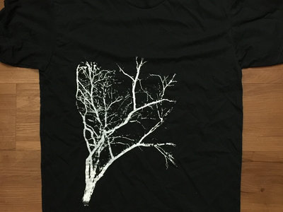 Limited Edition Flora T-Shirt (Black Crew Neck with White Ink) main photo