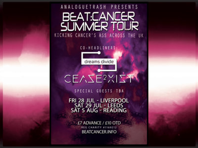 Summer Tour Reading - Sat 5 August - Cease2xist & Dreams Divide + Special Guests TBA main photo