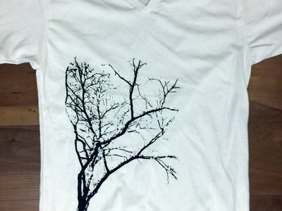 Limited Edition Flora T-Shirt (White V-Neck with Black Ink) main photo