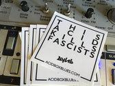 This Acid Kills Fascists Sticker Pack photo