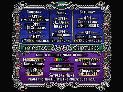 MAGFest 2017 Main Stage Chiptunes Flyer main photo