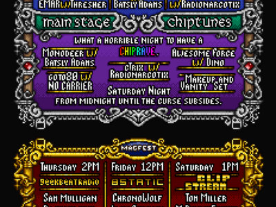 Both MAGFest 2017 Chiptune Flyers main photo