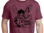 pixie druid T-shirt :: Netherbrick Red photo
