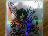 pixie druid Holographic Silver Square Button photo