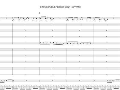 "Brush Force ""Patreon"" Sheet Music 【PDF】 main photo"