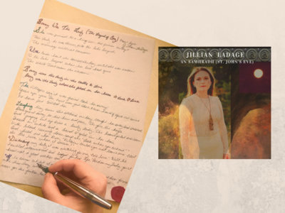 "One Handwritten Lyric on Parchment Paper Medieval Style + ""An Samhradh (St. John's Eve)"" Single Digital Download main photo"