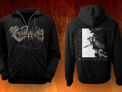 'ANATOMY OF LOSS' zipped hoodie main photo