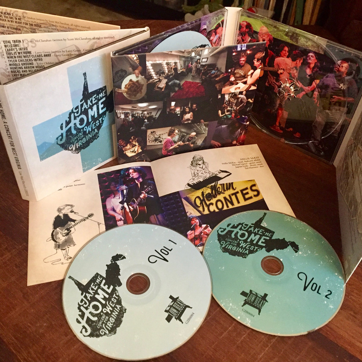 Limited Edition Double Cd Presented In 8 Panel Double Gatefold Sleeve With 16 Page Booklet Full Of Photos By Todd Cerveris And Artwork By Michael Arthur