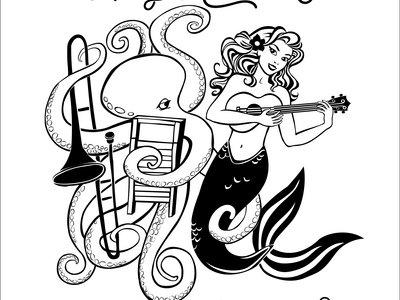 NEW 2017 Amy Kucharik & Friends With Benefits logo black and white vinyl sticker main photo