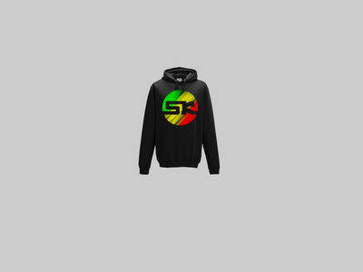 KnightWear - Black Hoody with Tri Colour Red/Gold/Green 'SK' Logo main photo