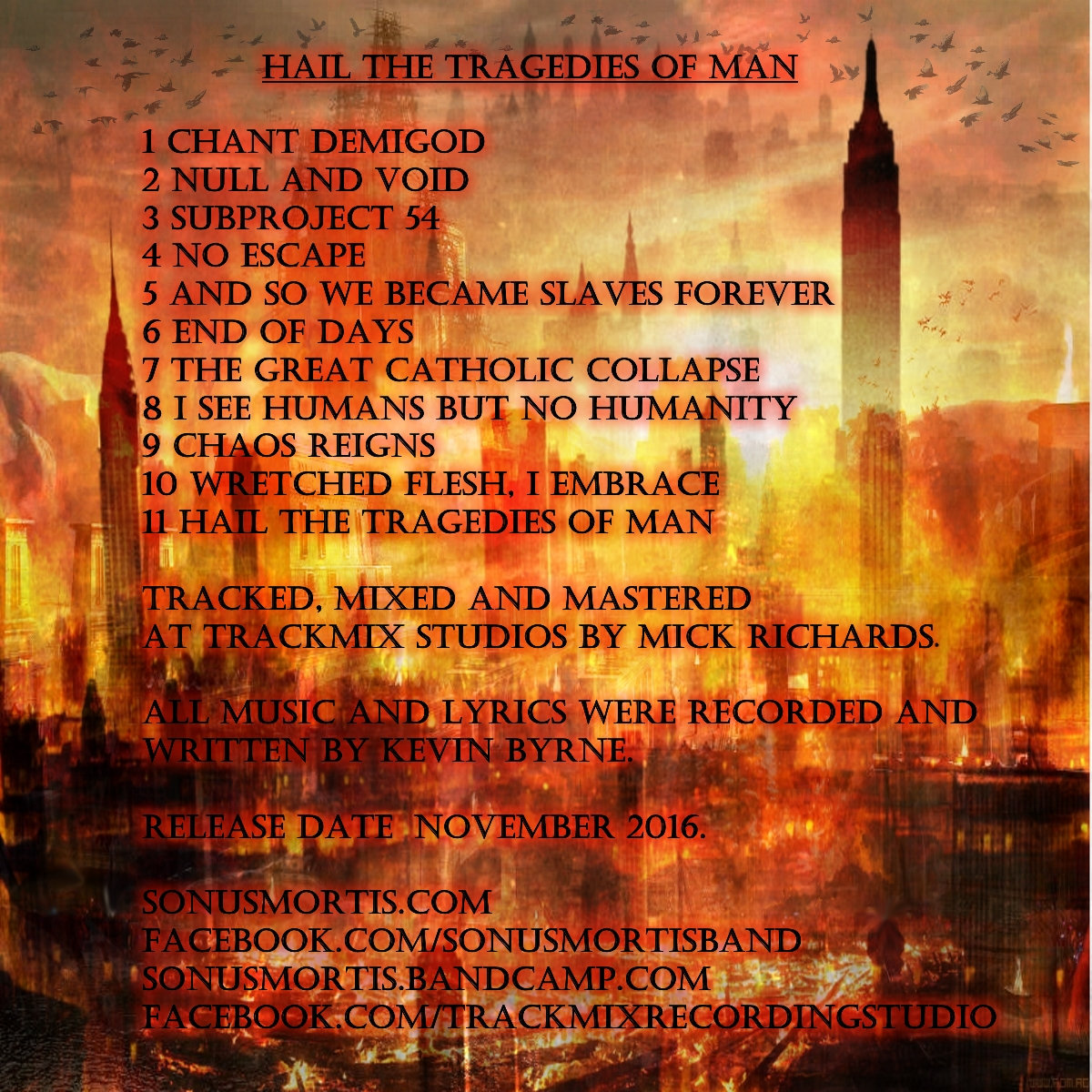Includes unlimited streaming of Hail The Tragedies Of Man via the free  Bandcamp app, plus high-quality download in MP3, FLAC and more.