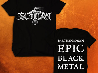 """Parthenopean Epic Black Metal"" Logo T-Shirt Front/Back main photo"