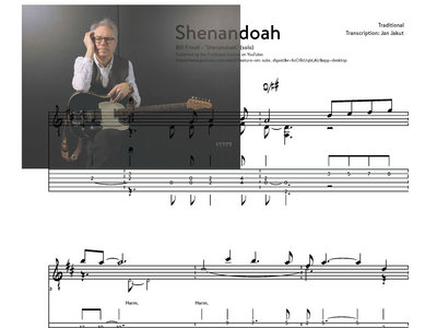 Shenandoah - Bill Frisell (solo) transcription main photo
