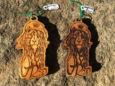 "J Ras ""Dread Lion"" Laser Engraved Premium Wood Pendant main photo"
