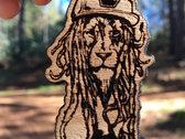 """J Ras """"Dread Lion"""" Laser Engraved Wood Pendant photo"""