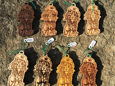 """J Ras """"Dread Lion"""" Laser Engraved Wood Pendant main photo"""