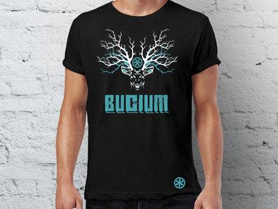 Man & Girlie - Blue Stag - Black T-shirt main photo