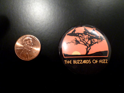"""The Buzzards of Fuzz """"Four Birds in the Desert"""" Button Pin! main photo"""