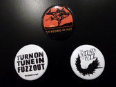 """The Buzzards of Fuzz """"Turn On, Tune In, Fuzz Out"""" Button Pin! photo"""
