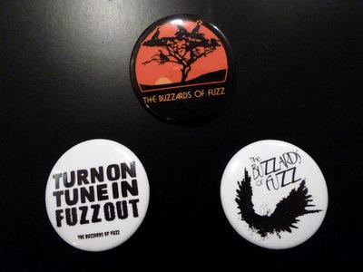 The Buzzards of Fuzz Button / Pin Set! main photo