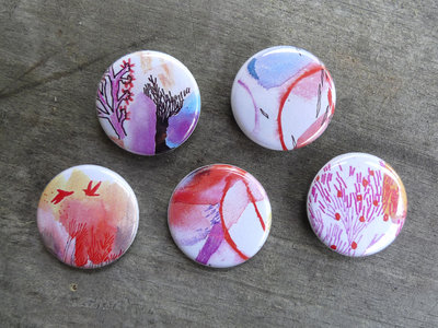Buttons pack of 5 designs main photo