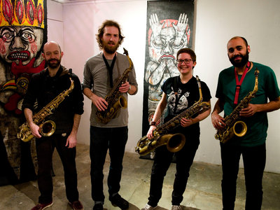 Madwort Saxophone Quartet & Olie Brice/John Edwards duo (5th of March, IKLECTIK) main photo