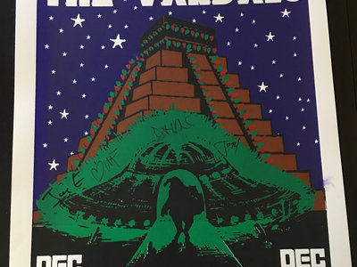 The Vandals House Of Blues Christmas Alien Poster - SIGNED & RARE main photo