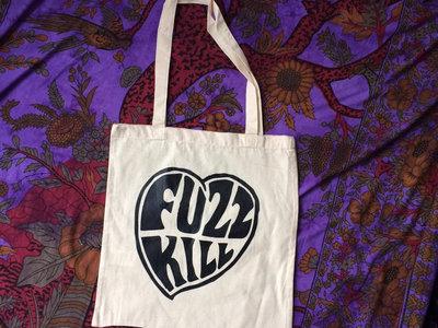 Fuzzkill heart logo tote bag main photo