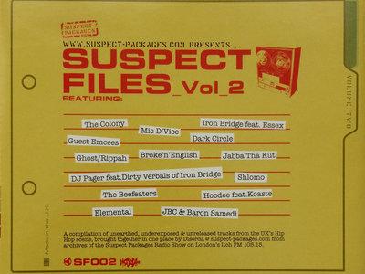 Suspect Files Vol.2 (CD) main photo