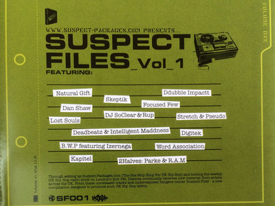 Suspect Files Vol.1 (CD) main photo